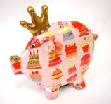 陶器製ピッグ貯金箱(572-210)
