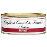 CONFIT DE CANARD DES LANDES 2 CUISSES BIGNALET BOITE OVALE 600G