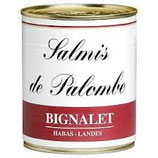 SALMIS DE PALOMBE BIGNALET LANDES BOITE 460G NET