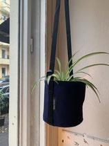 Pflanztasche - BACSAC Hängetopf 3 Liter - indigo und sonnengelb