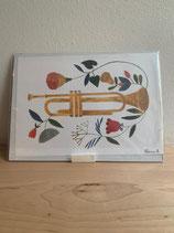 Kunstdruck Trompete A5