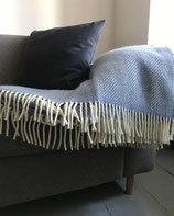 Wolldecke gemustert