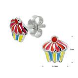 Kleurrijke Cupcake als Oorknopjes