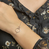 Dubbel Ringetjes Armband - Armband met 2 Rondjes - Zilver