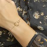Dubbel Ringetjes Armband - Armband met 2 Rondjes - Verguld Zilver
