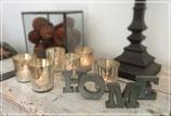 Buchstaben HOME Metall