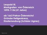 Babenberger für Guides:  Leben und Wirken (Schwerpunkt Wien)