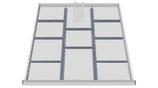 Einteilungssortiment Schubladenhöhe 100 mm für Schrankbreite 705 mm