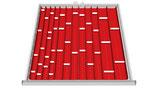 Einteilungssortiment für Schubladenhöhe 50-75 mm für Schrankbreite 705