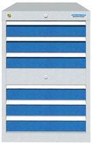 Schubladenschrank mit 2x3 Schubladen und 2 separaten Schliessungen ohne Einteilungen
