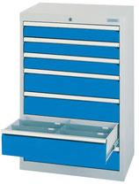 Schubladenschrank T500 mit 7 Schubladen ohne Einteilungen