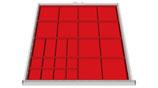 Einteilungssortiment für Schubladenhöhe 100 mm für Schrankbreite 705