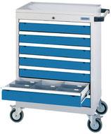 Mobiler Schubladenschrank T500 mit 7 Schubladen ohne Einteilungen
