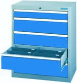 Schubladenschrank T500 mit 5 Schubladen ohne Einteilungen