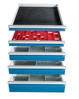 Einteilungs-Set für  5 Schubladen Schrankbreite 705