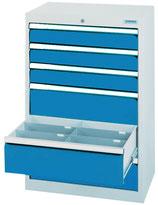 Schubladenschrank T500 mit 6 Schubladen ohne Einteilungen