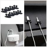 Clip para cables con adhesivo