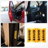 Calcomanías de seguridad para las puertas del auto