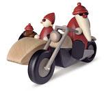Familienausflug auf Motorrad (weihnachtlich)