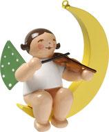 Engelmusikant (KLEIN), im Mond, mit Geige
