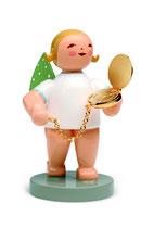 Goldedition N° 12, NICHT limitiert, grauer Sockel, Begleiter, Engel mit Taschenuhr, vergoldet