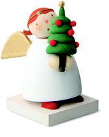 Schutzengel mit Weihnachtsbäumchen