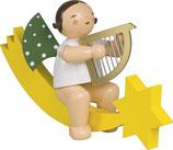 Engelmusikant, groß, auf Schweif, mit Harfe