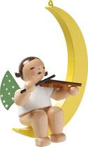 Engelmusikant, im Mond, mit Geige