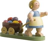 W & K Ostermädchen mit Wagen