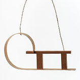 Holzdekor - Schlitten