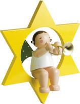 Engelmusikant, groß, im Stern, mit Trompete