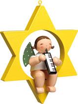 Engelmusikant, im Stern, mit Melodika
