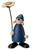 Susi mit Blume, stehend, blau