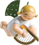 Engelmusikant, schwebend, mit Harfe
