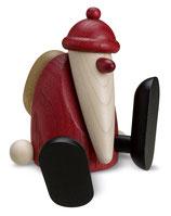 Weihnachtsmann auf Kante sitzend/tanzend, klein