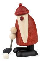 Weihnachtsmann mit Golfschläger unten, klein