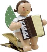 Engelmusikant auf Klemme, mit Akkordeon