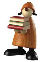 Lilly mit Büchern, gelb
