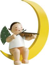 Engelmusikant, groß, im Mond, mit Geige