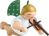 Engelmusikant, schwebend, mit Geige