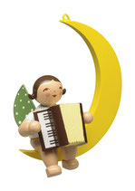 Engelmusikant, im Mond, mit Akkordeon
