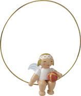 Christbaumengel im Ring, mit Ball