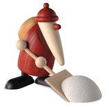 Weihnachtsmann mit Schneeschieber, klein