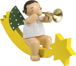 Engelmusikant, groß, auf Schweif, mit Trompete