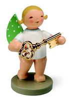 Goldedition N° 8, Schatzmeister, Engel mit Schlüssel, vergoldet