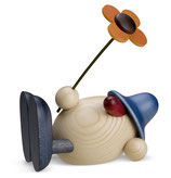 Oskar mit Blume, liegend