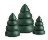 Miniatur Baumset 1 / Bäume grün, 3-teilig