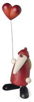 Weihnachtsmann mit Herzballon, klein