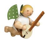 Engel, schwebend, mit Banjo