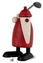 Weihnachtsmann mit Golfschläger oben, klein